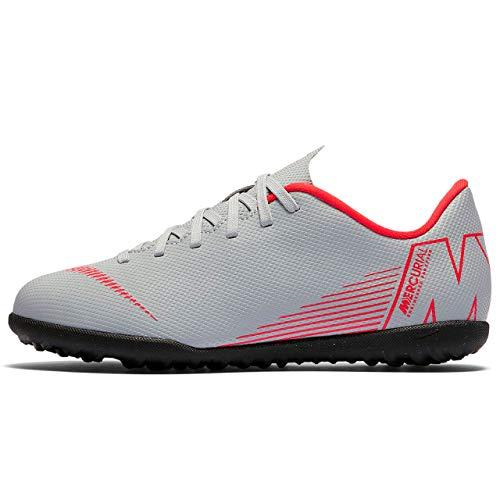 Nike Jr Vapor 12 Club GS Tf Scarpe da Calcetto Indoor Unisex-Bambini, Multicolore (Wolf Grey/Lt Crimson-Black 060) 37.5 EU