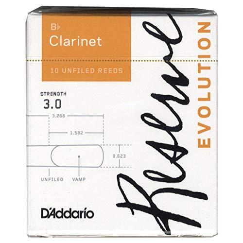 D'Addario Reserve Evolution - Ance per clarinetto in Sib, durezza 3.0; confezione da 10