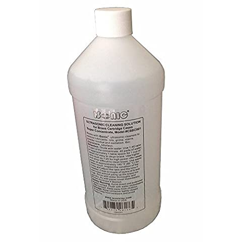 iSonic Ultrasonic Brass Cleaning Solution Concentrate 1Qt Bottle by