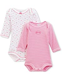 Petit Bateau Baby-Mädchen Body 2er Pack