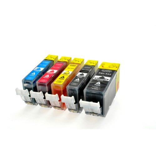 5 Druckerpatronen Mit Chip und Füllstandanzeige für Canon Pixma IP4850 MX885 MG5150 MG5250 MG6150 MG8150 IP 4850 MG 5150 5250 6150 8150 kompatibel zu PGI-525BK CLI-526BK CLI-526C CLI-526M CLI-526Y