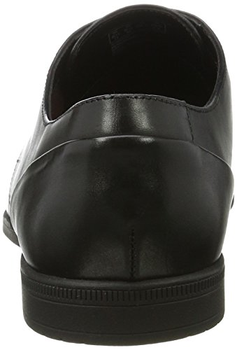 Clarks Bampton Limit, Derby Uomo Nero (Black Leather)