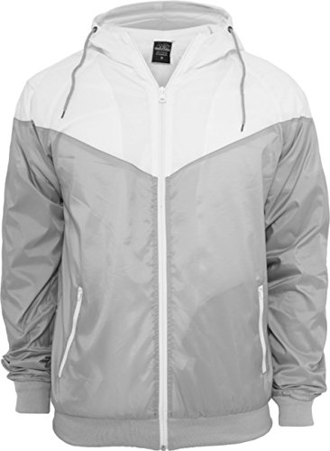 Urban classics veste pour homme arrow windrunner tB148 coupe regular fit Multicolore - Gris/blanc