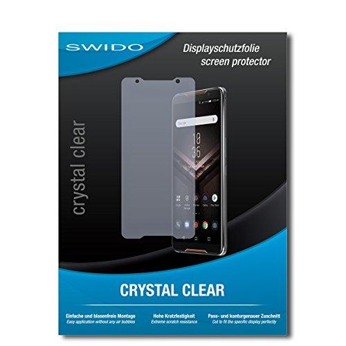 SWIDO Schutzfolie für Asus ROG Phone [2 Stück] Kristall-Klar, Hoher Härtegrad, Schutz vor Öl, Staub & Kratzer/Glasfolie, Bildschirmschutz, Bildschirmschutzfolie, Panzerglas-Folie