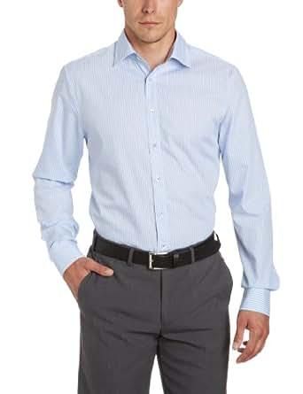 Seidensticker Herren  Businesshemd Slimfit, 225518, Gr. 38, Mehrfarbig (12 (Streifen blau))