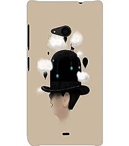 MICROSOFT LUMIA 535 HAT BOY Back Cover by PRINTSWAG