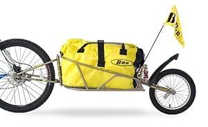 BOB Fahrrad Anhänger für 28 mit Tasche und Schnellspanner IBEX, gold, 28
