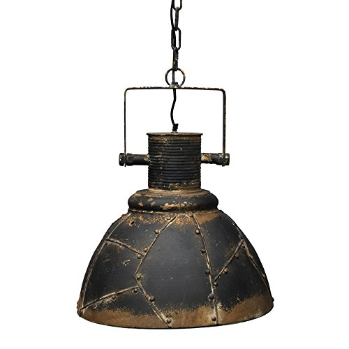 Rost Bad (Vintage Lampe Decke Rost Factory Industrielampe Deko Wohnzimmer Ø 41 cm schwarz Metall patiniert E27 Industrielampe Hängeleuchte Retro Deckenlampe Esszimmer Industriedesign)