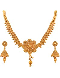 BFC- Buy For Change Stylish And Spiral Design Pure One Gram Gold Plated Necklace/ Neckpiece For Women And Girls