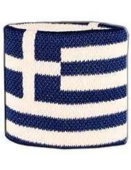 Digni® Poignet éponge avec drapeau Grèce - Pack de 2 pièces