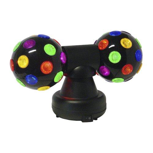 Viga - D-Double Delight - Decoration Day - Disco Balls 10cm con luce multicolore - Doppia Rotazione a 360 ° - Adattatore 12 V - Rotazione Disco
