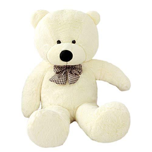 VERCART Teddybär XXL Plüschbär Groß Kuschelbär Riesiges Stofftier Kuscheltier Spielzeug Geschenk Geburtstag Weiß 180CM