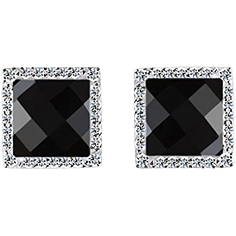 SaySure - S925 Solid Silver Black Stone