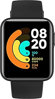 Xiaomi Mi Smart Watch Lite Black- 1.4 Inch Touch Screen, 5ATM Water Resistant, 9 Days Battery Life, GPS, 11 Sp