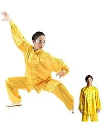zooboo Unisex Seda de Corea del Sur Uniforme de Tai Chi Kung Fu trajes, color