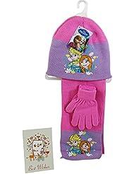 Disney Frozen Sombrero, Bufanda y Guantes Rosa