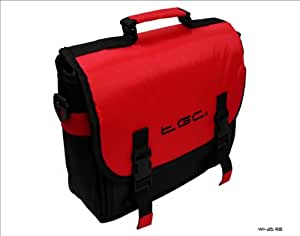 New Red & Black Messenger Style TGC Padded Carry Case Bag 4 Portable DVD Players