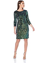 c11c649957382 Roman Originals Womens Sparkly Glitter Dress - Ladies Knee Length All-Over  Sequined Shift Cocktail