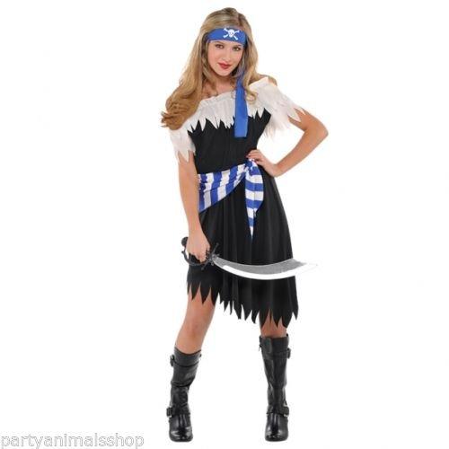 Schiffbrüchige Piraten Schönheit Kostüm Kinder Gr.152