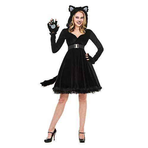 YaXuan Halloween-Kostüme, männliche und Weibliche Rollenspiele Tierkostüme, Paare, Schwarze Bären Katzen, Katzen Mädchen, Urlaub Uniformen Halloween (Farbe : 1, Größe : L)