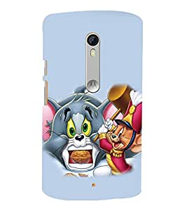 printtech Tom & Jerry Back Case Cover for Motorola Moto X Style