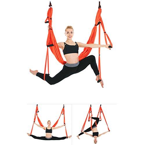 Yoga-Schaukel, Yoga-Hängematte, Set für Yoga ohne Schwerkraft, invertierte Übungen