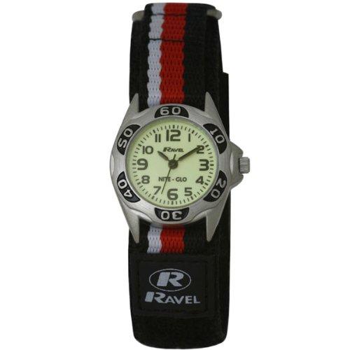 Ravel R1704.10–Jungen-Armbanduhr, Armband aus Stoff Farbe Schwarz (Glo In The Dark Farbe)
