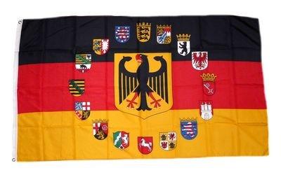Fahne/Flagge Deutschland 16 Bundesländer 90 x 150 cm