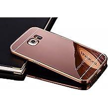 Vandot 1X Carcasa Funda Case Marco Antigolpes con case Protectora Para Samsung Galaxy S6 Edge Plus Funda Dura Bumper Case Cover Ultra delgado y ligero funda dura carcasa posterior (Back case) de Material de PC Shell Rosa