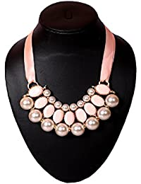 Elprine Elegant Imitation Pearls Choker Necklace For Women