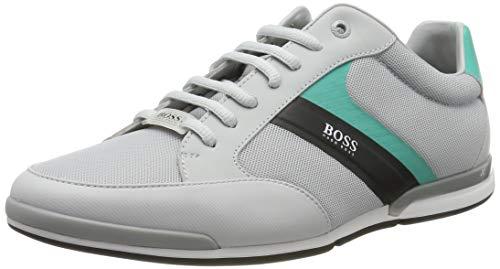 BOSS Herren Saturn_Lowp_Meth Sneaker, Grau (Light Grey 50), 45 EU