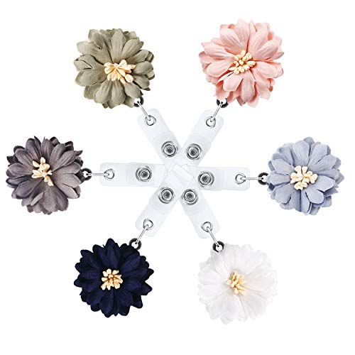 JZZJ 6 Pieces Retractable ID Badge Clip Badge Holder Reel Clip on Card Holders with Clip for Nurse Doctors Teachers, 6 Colors by (Retractable Id Holder Badge)
