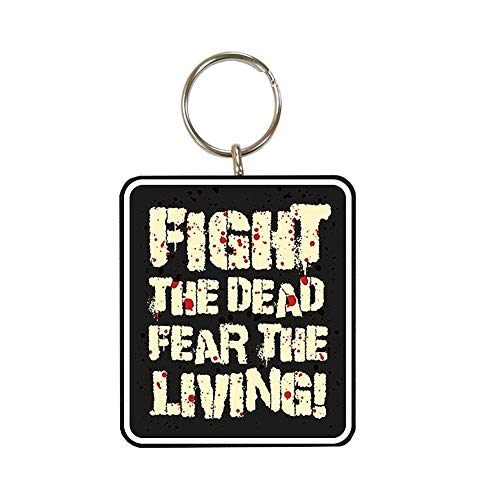 The Walking Dead - Llavero Fight the Dead (Talla Única/Negro)