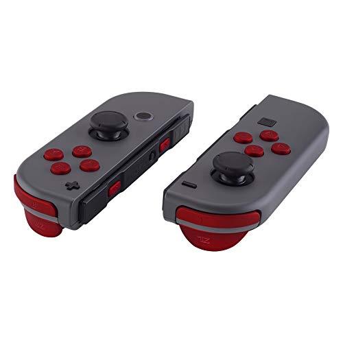 eXtremeRate Pulsante SR SL L R ZR ZL ABXY Croci Tasti Pulsanti Direzionali Trigger Grilletto Ricambio con Attrezzi per Nintendo Switch Joy-con(Rosso)