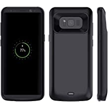 Power Akku Hülle Samsung Galaxy S8 5000mAh Batterie,Casewin Galaxy S8 Handyhülle Smart Case Automatisch Magnetisch Absorption Akkucase Lithium-Polymer Battery