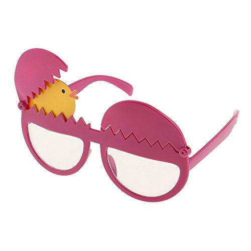 Blesiya Weihnachten Party Sonnenbrille Spaßbrillen Party Kostüm Partybrillen - Ei Küken