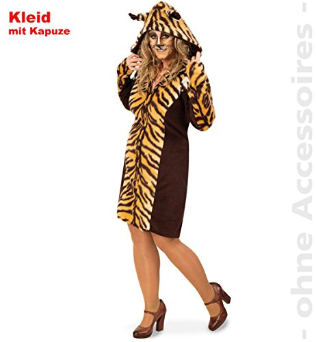 FRIES Plus Size Damen Kostüm Tiger Kleid Karneval Fasching ()