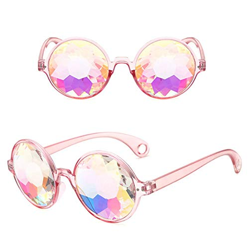 Ogquaton Kaleidoskop Rainbow Steampunk Brille Crystal Linsen Schweißen Augenschutz Vintage Brille langlebig und praktisch