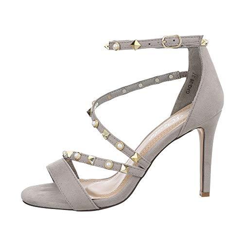 uhe Sandalen & Sandaletten High Heel Sandaletten Synthetik Grau Gr. 39 ()