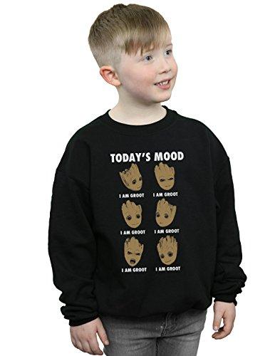 Marvel Jungen Guardians of The Galaxy Groot Today\'s Mood Sweatshirt Schwarz 12-13 Years