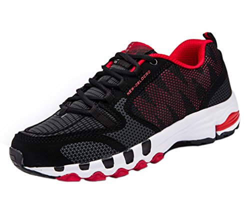 Scarpe da Ginnastica Corsa Sportive Fitness Running Sport e Tempo Libero Sneakers Basse Interior Casual all'Aperto per Uomo Donna Ragazze e Ragazzi(1227Rosso,42)