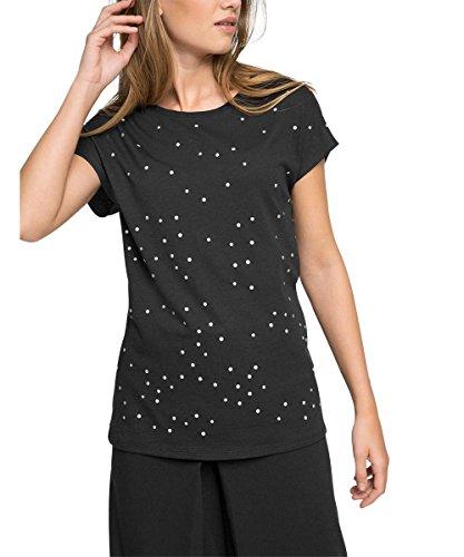 Esprit 046eo1k019-Mix, T-Shirt Femme Noir (Black)