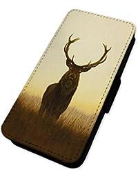 Ciervo Early Morning Deer–Funda con tapa tipo cartera funda tarjeta soporte LG G4