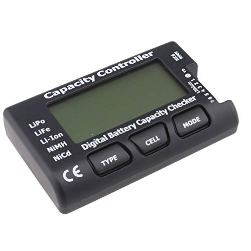 ENET RC CellMeter-7 Digital Battery Capacity Checker for Thunder Power HP-LBA7-TP LiPo Life Li-ion NiMH Nicd RC (Thunder Power Akkus)
