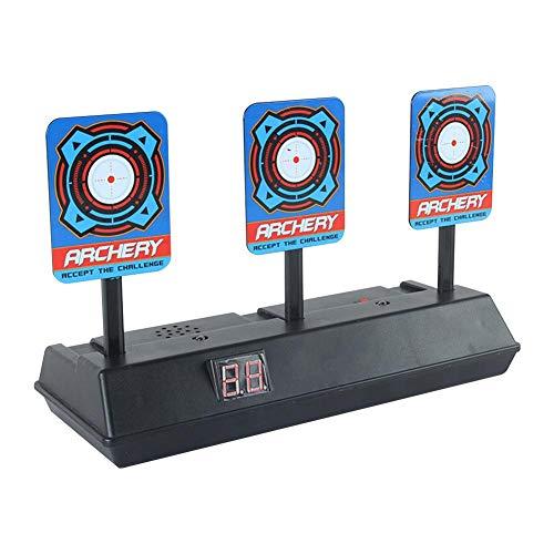 Zielscheibe für Nerf,Auto Reset Elektro Shooting Target Elektrische Ziel Toy Gun Elektrische Punktzahl Ziel Automatische Wiederherstellung Zubehör für Nerf Soft Bullet Gun Spielzeug