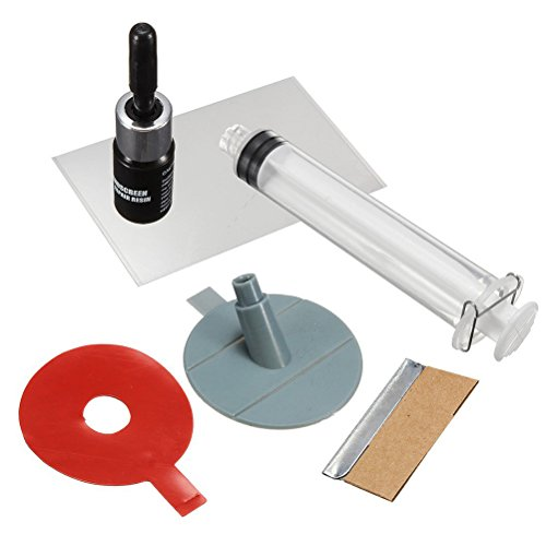 WINOMO Crack Premium Repair Kit with Windscreen DIY Chip Windshield Auto Glass Wind Screen