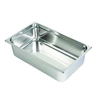 Decora 1/1Edelstahl Tisch Pfanne, Silber, 53x 32x 15cm