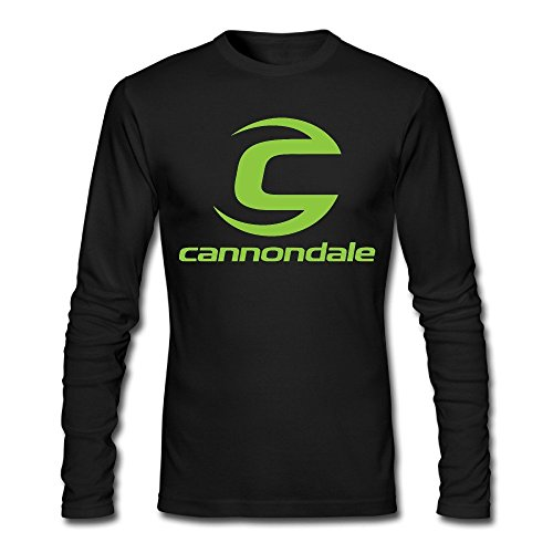ANABEL Herren's Cannondale Bicycles Bikes Long Sleeve T Shirt Cotton Tees (Large)