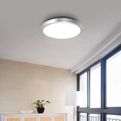 ACZZ Led Design Deckenleuchte Deckenleuchte in Weiß 4000 K Energiesparlampen mit weißem Aluminium- und Acryllicht 33 cm Durchmesser - Zeitgenössische 6 Light Halogen Kronleuchter