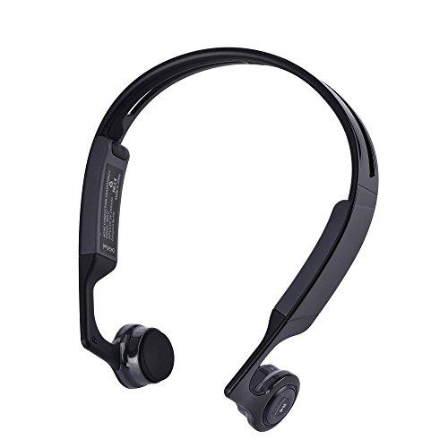 Bone Conduction Kopfhörer, gendaxin Wireless Bluetooth 4.1Bone Conduction Headset Kopfhörer mit integriertem Mikrofon Hände frei Stereo für City Sport wie Radfahren Reiten fahren und Joggen Tragbare Auto-dvd-spieler-fall